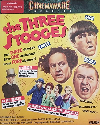 The Three Stooges [Version 2] by Cinemaware (for Commodore 64/128 [C64/C128] computers) - 1987 Vintage Retro game
