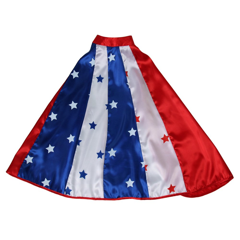 Making Believe Kids Red, White & Blue American Superhero Cape, 24''