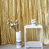 GFCC Photo Booth Backdrop Sequin Gold Backdrop Curtain Youtube Backdrop - 6FTX8FT