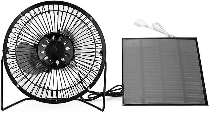DirkFiggeJklausTap /Elektrischer Mini-Solarventilator mit Clip-on-Funktion und Klimaanlage f/ür den Au/ßenbereich