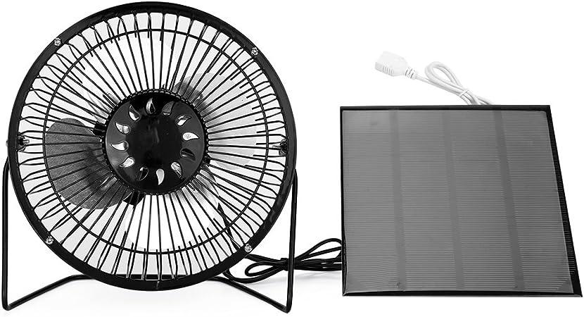 Nuzamas 3.5/W 6/V Panneau solaire Aliment/é ventilateur de 15,2/cm pour le camping caravane Yacht Serre Niche Poulailler Ventilator