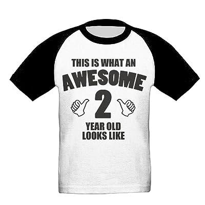 2 Year Old Unisex-Child T Shirt Baby Toddler Tee Round-Neck Short Sleeve Shirt