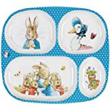 Placa de melamina Peter Rabbit con 4 compartimentos