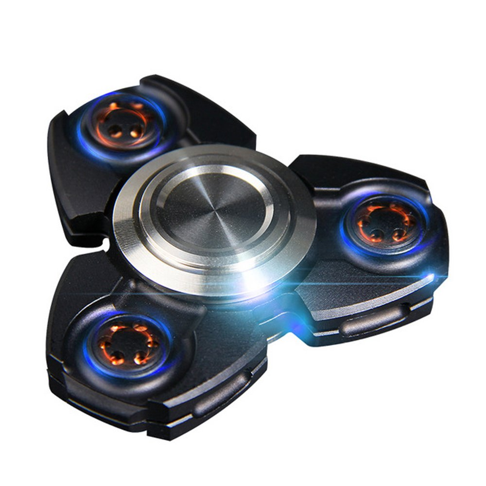 FREELOVE Russia UFO Triangle Design Fidget Spinner Toy Stress Reducer Premium EDC Disassemble Silicon Nitride Ceramic Bearing Helps Focus, Stress, Anxiety, ADHD (Aluminum Alloy Black, Aluminum Alloy) by FREELOVE (Image #1)