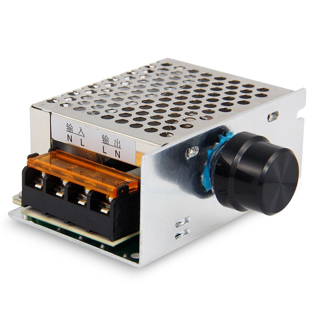 Caiyuangg Potencia Alta de 4000W Regulador Electró nico del Voltio de SCR Controlador de Velocidad AC 220V + Shell