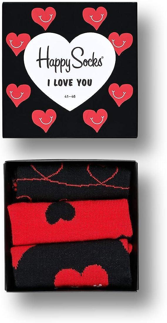 Happy Socks I Love You Gift Box Calcetines (Pack de 3) para Hombre ...