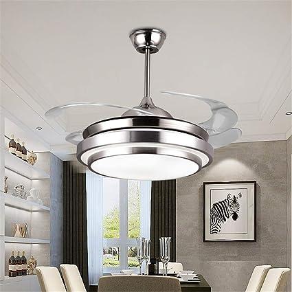 SHELLTB Ventilador de Techo Moderno con luz Bluetooth Altavoz y ...