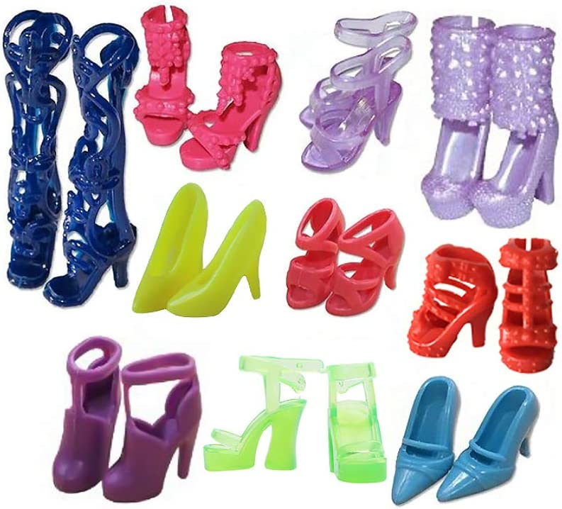 Daity Kleider f/ür Barbie Puppen 10 Fashion Kleider Outfit Kleidung mit 10 Paar Schuhen f/ür 11,5 Zoll M/ädchen Puppen