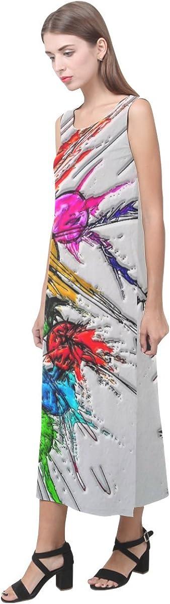 JC-Dress Sleeveless Dress Plash By Nico Bielow Party Beach Open Fork Long Dress
