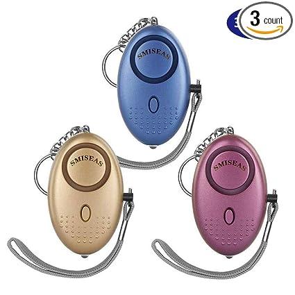 Amazon.com: Llavero de alarma personal, paquete de 3, 140 db ...