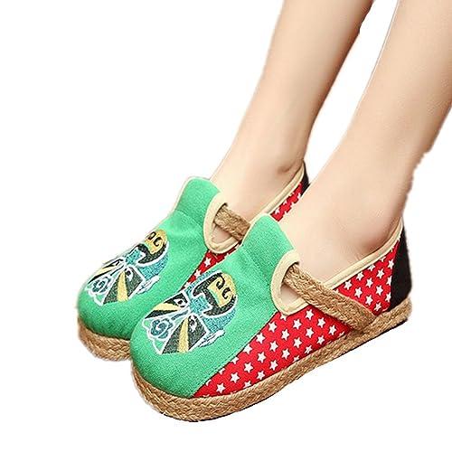 xichengshidai - Mocasines de Lona para Mujer: Amazon.es: Zapatos y complementos