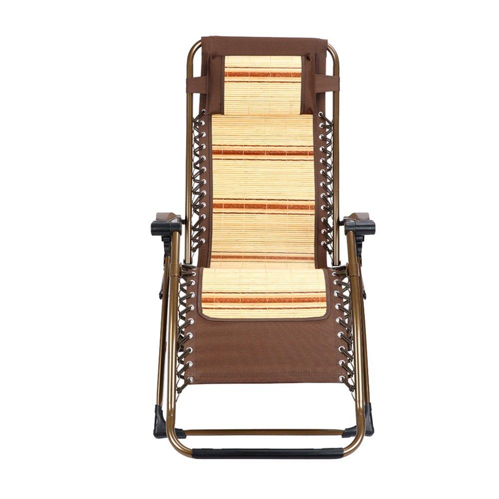 YANFEI Silla Plegable de Verano, sillones de bambú, sillón ...