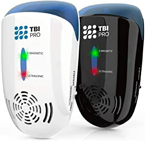 TBI Pro New Ultrasonic Pest Repeller - Wall Plug-in Electromagnetic & Ionic - Ant Fly Mosquito Mouse Rats Roach Repellent Indoor - Cockroach Control Safe Quiet Electronic Device - 4000 Sq.ft (2 Pack)
