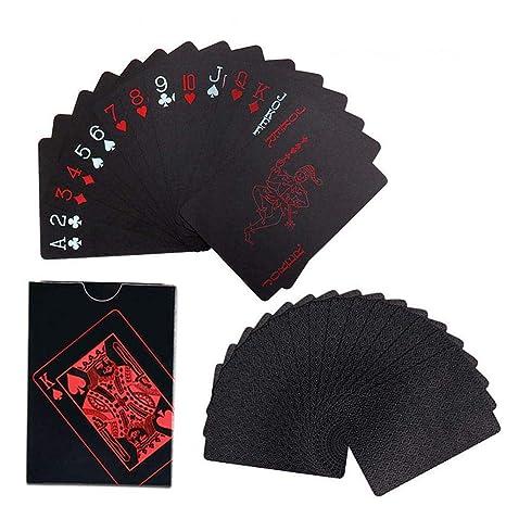 Aolvo Cartas de Póquer Sets de Poker Naipe Baraja de Cartas Mágicas de Plástico PVC Impermeable Juego de Cartas