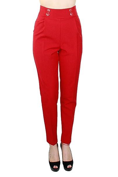 Kocca Pantaloni Donna CECINA Colore Rosso Collezione  Autunno-Inverno  2018 19  Amazon.it  Abbigliamento 16b7bb0faec