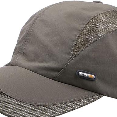 AMOYER Unisex Cotton Baseball Cap Vintage Sun Cap Adjustable Sports Hat Letters Embroidery Dome Cap for Women Men