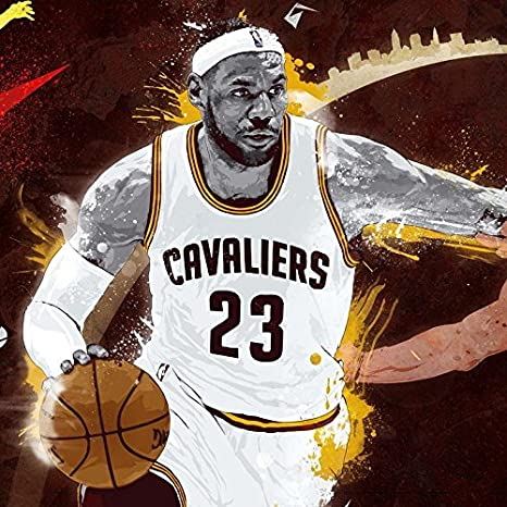 9049ebbbe3f8 LeBron James Basketball Player Sportsman 12 x 18 Inch Quoted Multicolour  Rolled Poster