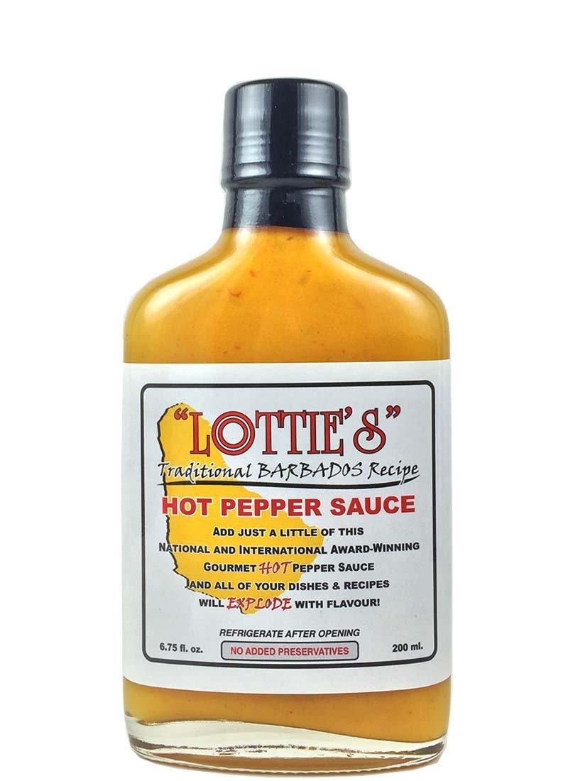 Lottie's Traditional Barbados Hot Sauce (Yellow) 6 oz.