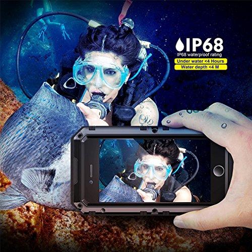 Phone Case Plus, Built-in Protective Waterproof Proof Military Black