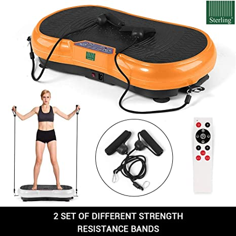 Sterling Power Vibration Exercise Machine, Vibrating Plate Weight Loss  Vibrator Power Body Fit Massage Device Slimming Fitness 200-300W, Handling  Up