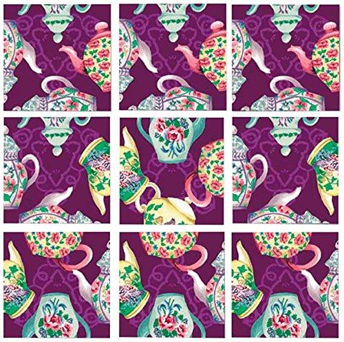 Dazzle Scramble Square Puzzles - B Dazzle Teapots Scramble Squares 9 Piece Puzzle