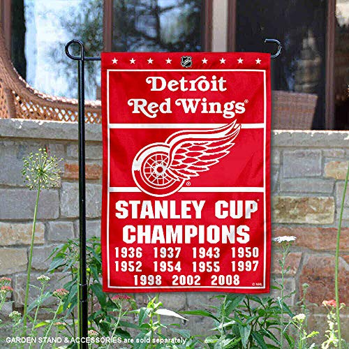 Cup 11 Time Stanley - Detroit Red Wings 11 Time Stanley Cup Champions Double Sided Garden Flag