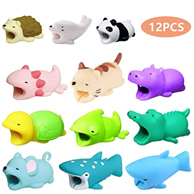 Cable Bite, Cable Protector Cable Bites Cute Animal Bite Cable Protectors Usb Cable Bites Protector For I Os System Not For Android (12 Pcs) by Opii