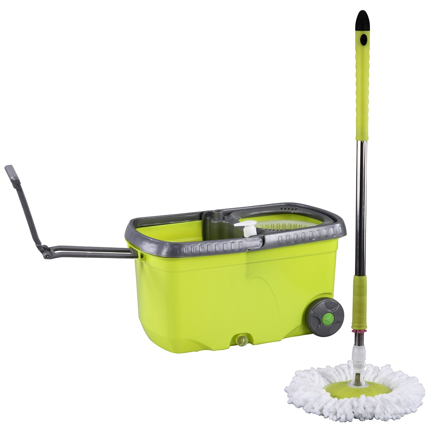 Evana Long Lasting Spin Mop With Wheels & Hand Carry Foldable ...