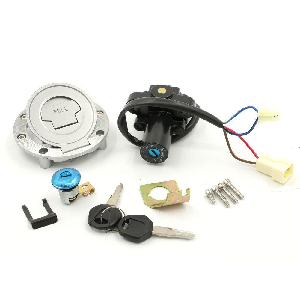 Alpha Rider Ignition Switch Lock Fuel Gas Cap Cover Seat Lock Keys Set For YAMAHA FJR1300 2001-2010 YZF FZ6 FZ6S FZ6N 2004-2010 Motofans
