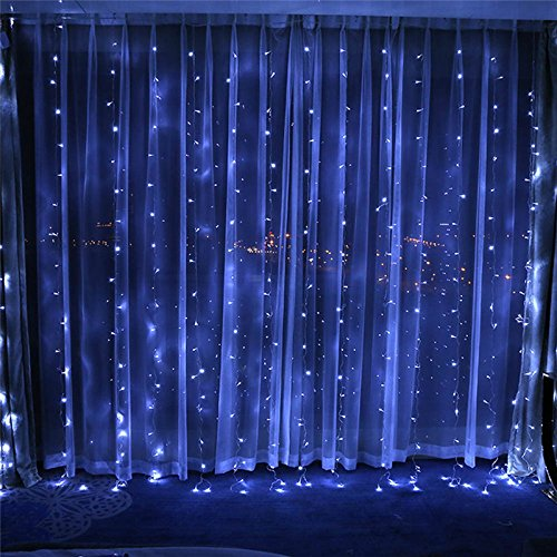 Window Curtain String Lights, 300 LED Fairy Starry