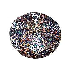 Decorative Mandala Moroccan ottoman chair pad floor cushion cover Home decoer 22x8 inch