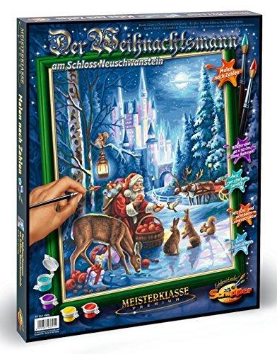 Schipper 609300695 Santa Claus Neuschwanstein Castle Paint By Numbers Board by Schipper
