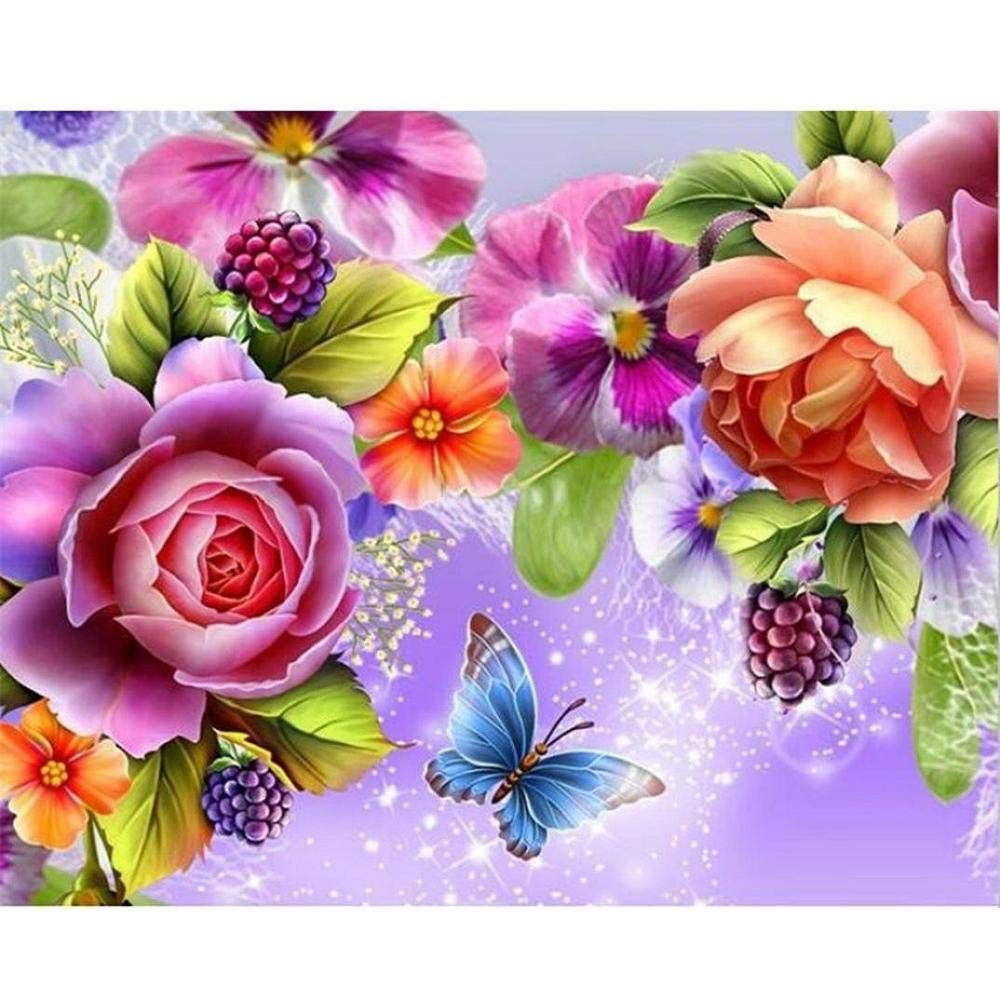 1set 3D diamond Painting Home Room Decor Rose /&Butterfly Diamond Embroidery .