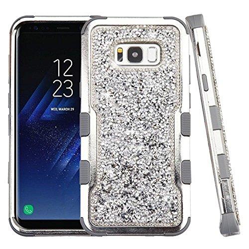 Galaxy S8 Case, Mybat Tuff Dual Layer [Shock Absorbing] Protection Hybrid Rhinestone Diamond Bling PC/Silicone Case Cover For Samsung Galaxy S8, (Mybat Rhinestones)