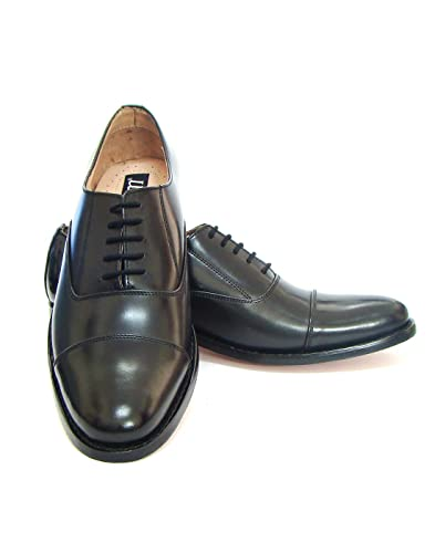 Asm Handmade Goodyear Welted Black/Tan Brogue/Oxford Dress Leather Shoes With Argentina Leather Sole Leather Insole Fully Leather Lining and PU Foot Pad For Optimum Comfort For Men. H115