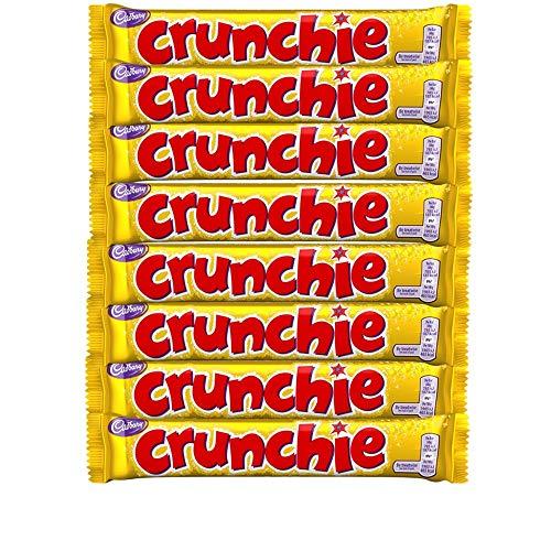 Cadburys Crunchie Bars | Total 8 bars of British Chocolate Candy - Cadbury Crunchie (Crunchy Candy Bar)