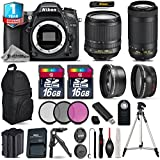 Holiday Saving Bundle for D7100 DSLR Camera + AF-P 70-300mm VR Lens + 18-105mm VR Lens + Backup Battery + Backpack + 1yr Extended Warranty + 2 Of Ultra Fast 16GB Class 10 - International Version