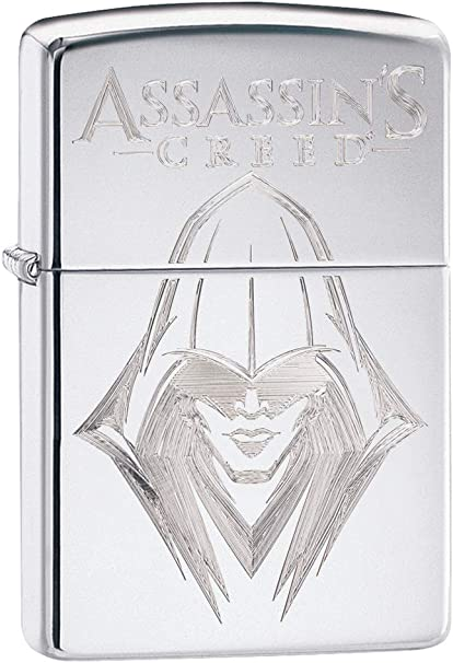 Zippo Assassins Creed Briquet Coupe-Vent Unisexe Chrom/é