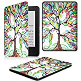Fintie Kindle 7th Gen SlimShell Case - The Thinnest and Lightest Cover for Kindle 7th Generation (2014 Model All-new Kindle with Touch), Love Tree