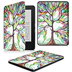 FINTIE Kindle 7th Gen SlimShell Case – The Thinnest and Lightest Cover for Kindle 7th Generation (2014 Model All-new Kindle with Touch), Love Tree