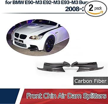 Jcsportline fits BMW F10 M5 Bumper 2011-2017 Carbon Fiber Front Chin Air Dam Splitters Flaps Hign End Custom