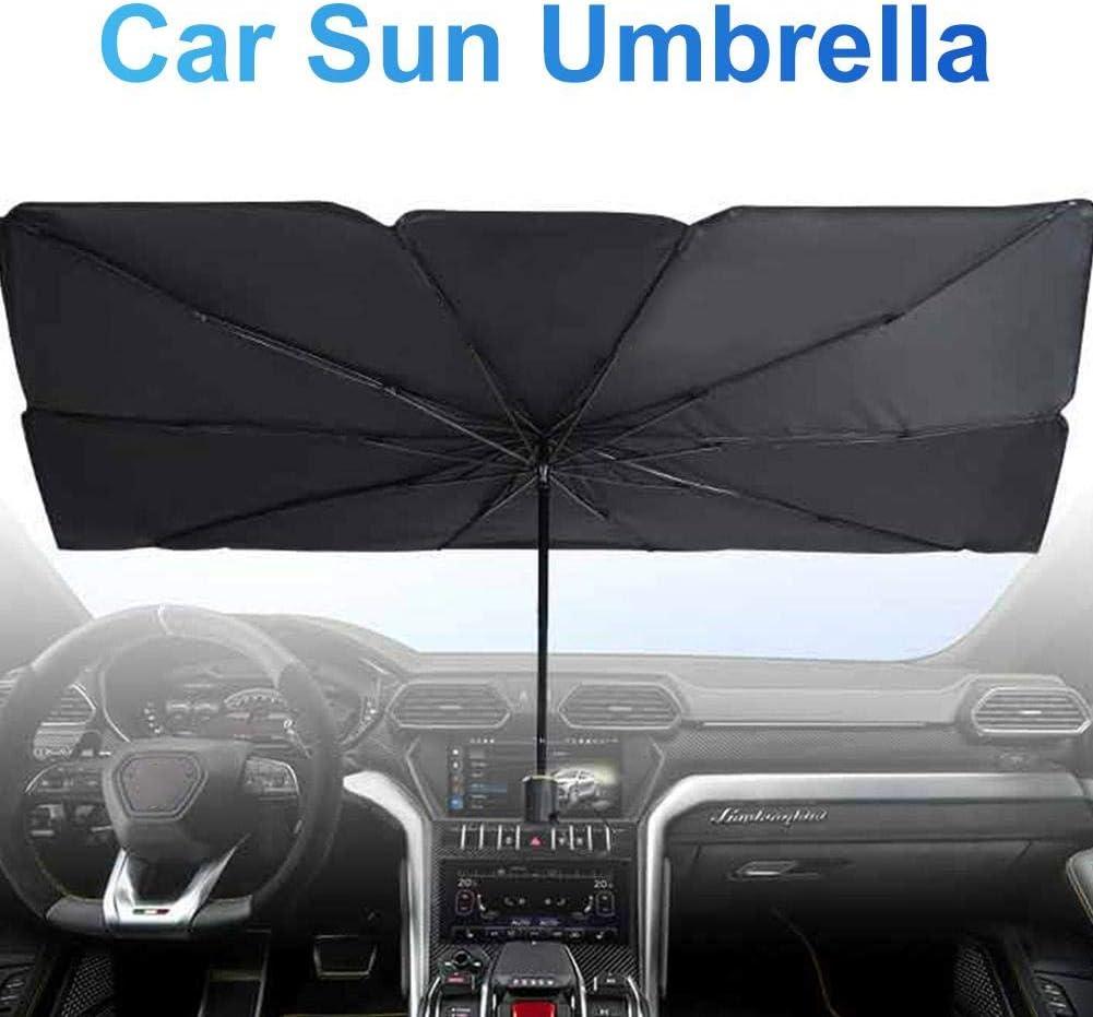 Starte Auto Windschutzscheibe Sonnenschirm Auto Regenschirm Für Windschutzscheibe Sonnenschutz Faltbarer Auto Sonnenschirm Block Uv Einfach Zu Bedienen Zu Lagern 57 Zoll X 31 Zoll Auto
