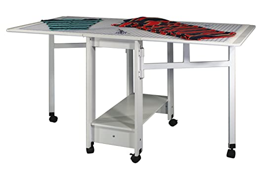 Sewingrite Cutting Craft Utility Table With Compact Drop Leaf U