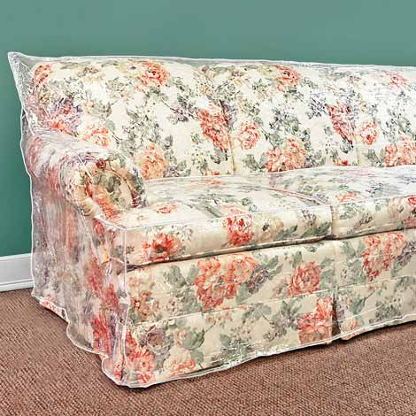 Furniture Protector - (Plastic Slipcover)