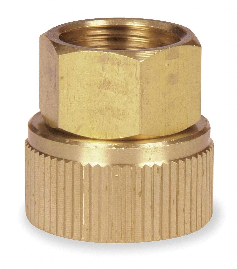 Brass Hose To Pipe Adapter, 3/4' FGHT x 1/2' FNPT Connection - pack of 5
