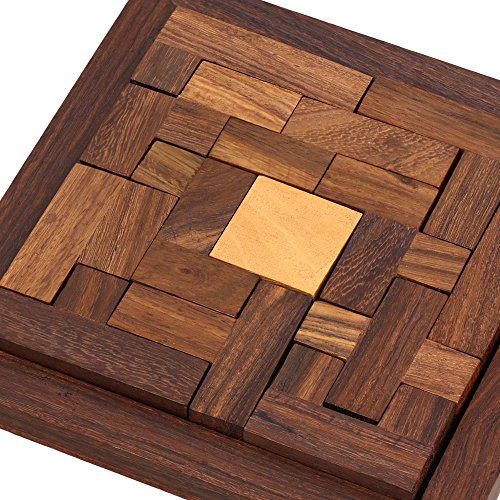 ShalinIndia Handmade Indian Wood Jigsaw Puzzle - Wooden Toys for Kids - Travel Games for Families - Unique Gifts for Children by ShalinIndia (Image #1)