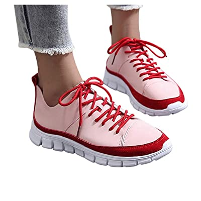 YiYLunneo Women Sport Running Shoes Lace-Up Casual Outdoor Athletic Training Shoes Breathable Soft Bottom Sneakers: Clothing