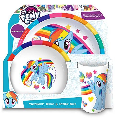 (My Little Pony Tumbler, Bowl, Plate Set, Multi, Set Of 3 )