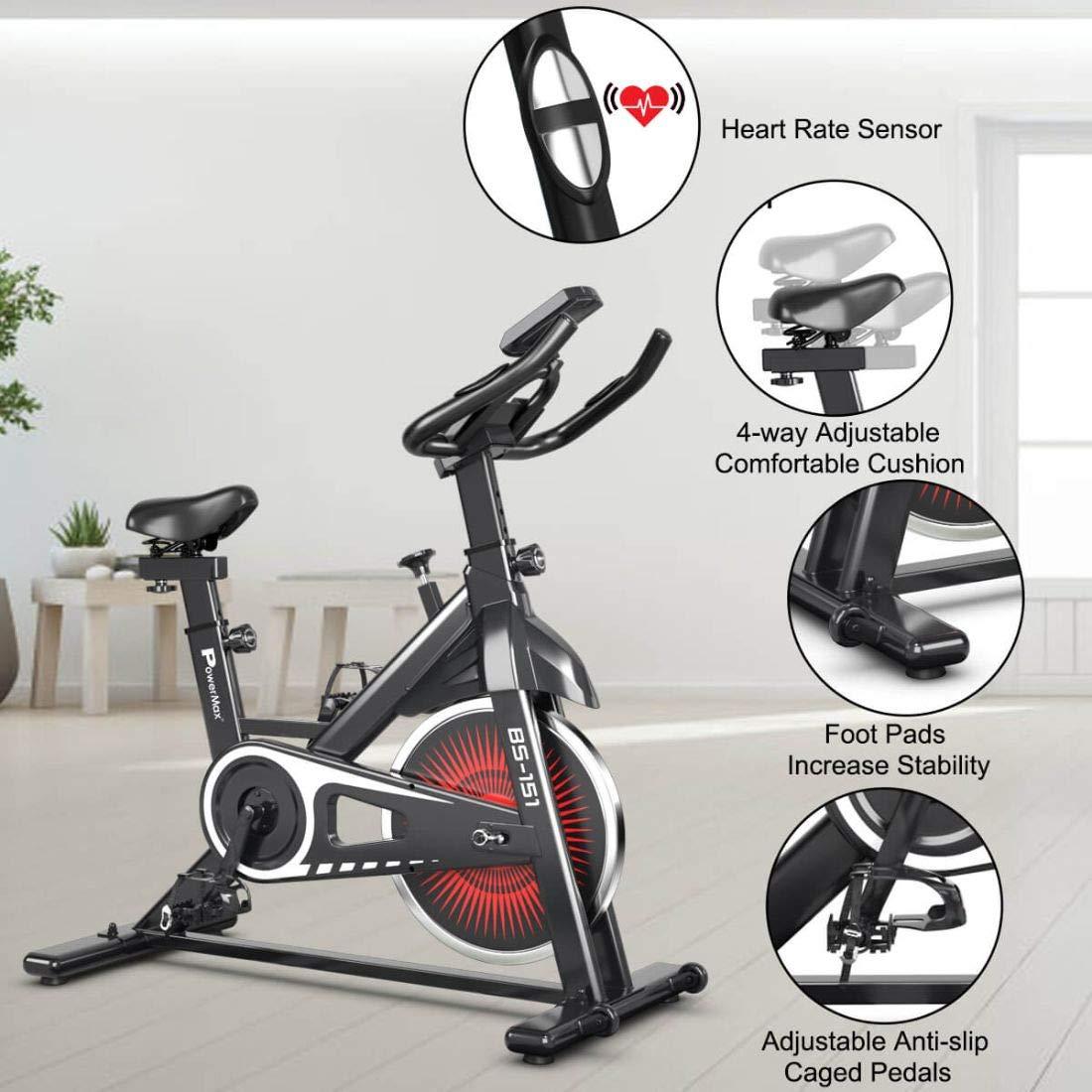 PowerMax Fitness BS-150 Home Spin Bike