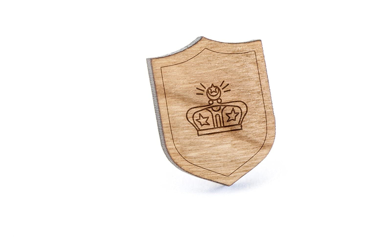Czar Lapel Pin, Wooden Pin Wooden Accessories Company czar-pin